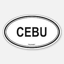 Cebu, Philippines euro Oval Decal