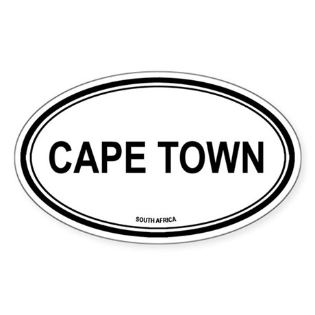 Cape Town, South Africa euro Oval Sticker