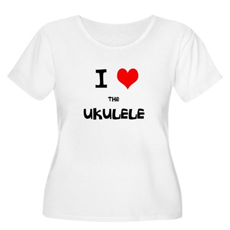 I HEART the UKULELE Women's Plus Size Scoop Neck T