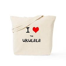 I HEART the UKULELE Tote Bag