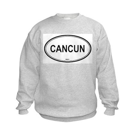 Cancun, Mexico euro Kids Sweatshirt