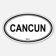 Cancun, Mexico euro Oval Decal