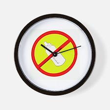 not bottle fed circle slash Wall Clock