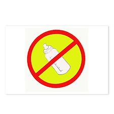 not bottle fed circle slash Postcards (Package of