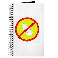 not bottle fed circle slash Journal