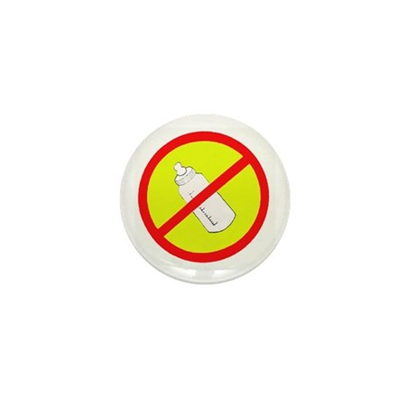 not bottle fed circle slash Mini Button (100 pack)