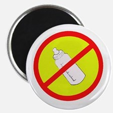 not bottle fed circle slash Magnet