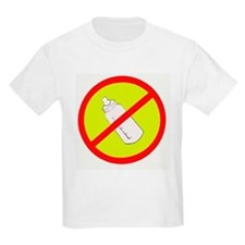 not bottle fed circle slash Kids T-Shirt