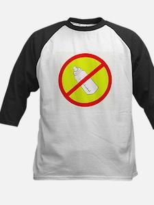 not bottle fed circle slash Kids Baseball Jersey