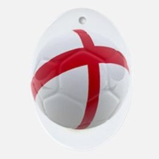 England world cup soccer ball Ornament (Oval)