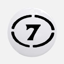 Circle Seven Ornament (Round)