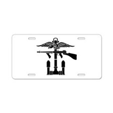 Combined Operations B-W Aluminum License Plate