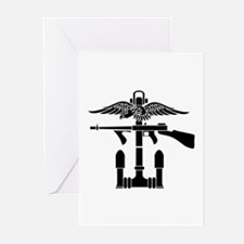 Combined Operations B-W Greeting Cards (Pk of 10)