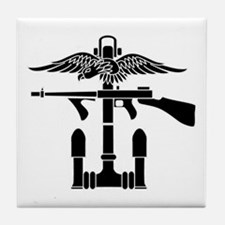 Combined Operations B-W Tile Coaster