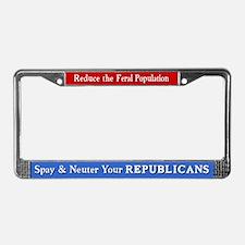 Spay & Neuter Republicans License Plate Frame