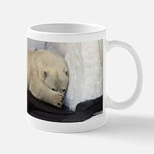 Polar Bear peeking out from behind his paw 2 Mug