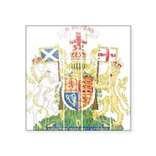 "Scotland Coat Of Arms Square Sticker 3"" x 3"""