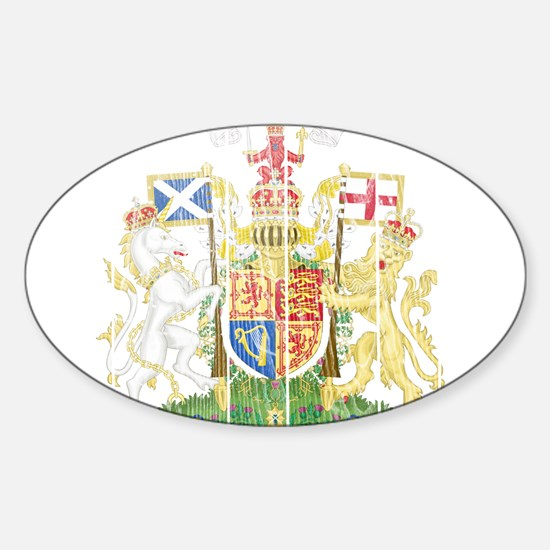 Scotland Coat Of Arms Sticker (Oval)