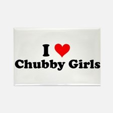 I Love Chubby Girls Rectangle Magnet