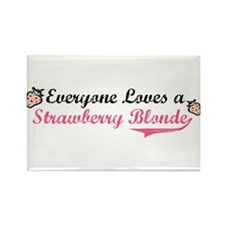 Everyone Loves a Strawberry B Rectangle Magnet