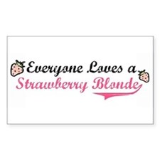Everyone Loves a Strawberry B Sticker (Rectangular