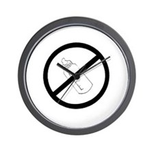 not bottle fed circle slash Wall Clock