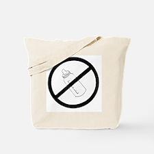 not bottle fed circle slash Tote Bag