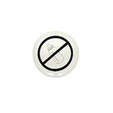 not bottle fed circle slash Mini Button (100 pack)