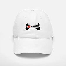 I Love My Foxhound - Dog Bone Baseball Baseball Cap