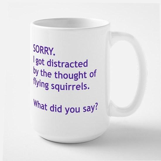 Purple Squirrels Large Mug