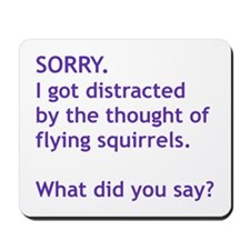 Purple Squirrels Mousepad