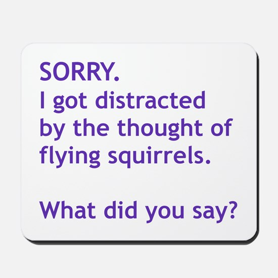 Purple Squirrels Mousepad