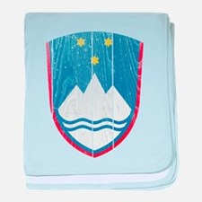 Slovenia Coat Of Arms baby blanket