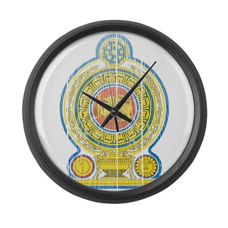 Sri Lanka Coat Of Arms Large Wall Clock By Coatofarmswood