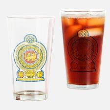 Sri Lanka Coat Of Arms Drinking Glass