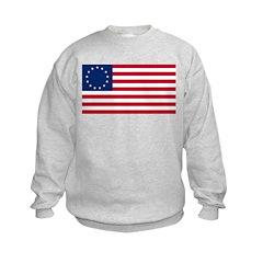 USA Betsy Ross Flag Shop Sweatshirt