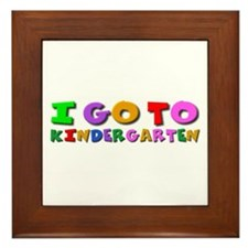 I go to kindergarten Framed Tile