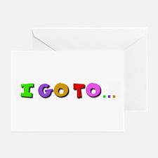 I go to kindergarten Greeting Cards (Pk of 10)