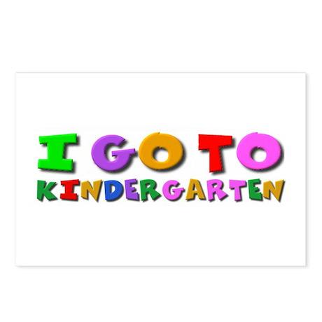 I go to kindergarten Postcards (Package of 8)