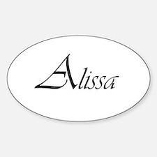 Alissa.png Sticker (Oval)