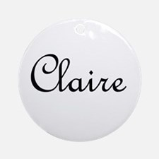 Claire.png Ornament (Round)