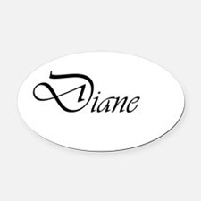 Diane.png Oval Car Magnet