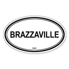 Brazzaville, Congo euro Oval Decal