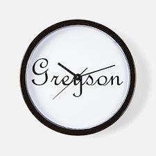 Greyson.png Wall Clock