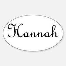 Hannah.png Sticker (Oval)