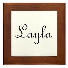 Layla.png Framed Tile