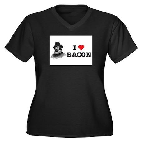 Francis Bacon Women's Plus Size V-Neck Dark T-Shir