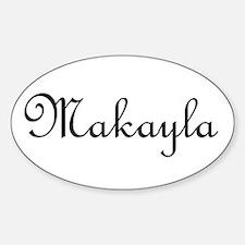 Makayla.png Sticker (Oval)