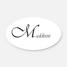 Maddison.png Oval Car Magnet