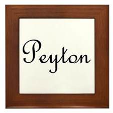 Peyton.png Framed Tile